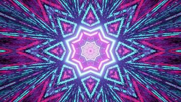 caleidoscopio a forma di stella sfondo astratto 3d'illustrazione foto