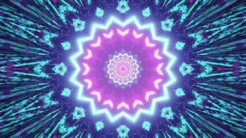 sfondo geometrico astratto con raggi luminosi nell'illustrazione 3d