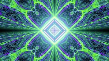 riflessioni dell'illustrazione 3d del modello al neon geometrico
