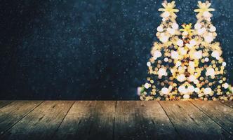 Natale sfondo sfocato, bokeh con un tono vintage foto