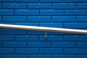 parete blu con texture di sfondo foto