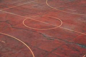 vecchio campo di calcio di strada foto