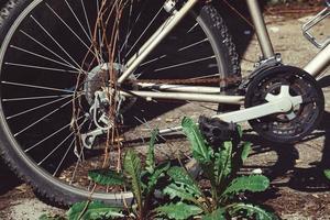 bicicletta per strada foto