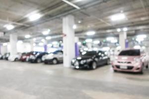 sfondo sfocato garage foto