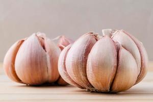 primo piano dell'aglio foto