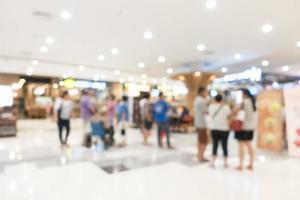 interno defocused del centro commerciale foto