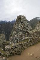 rovine di machu picchu in perù foto