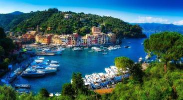 veduta di portofino - italia foto