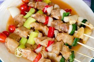 piatto di shish kebab foto