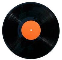 disco in vinile grammofono isolato su uno sfondo bianco foto