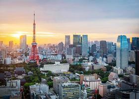 paesaggio urbano di tokyo, giappone foto