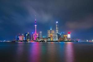 skyline della città di shanghai, cina foto