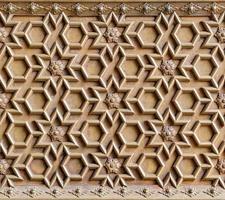 antica struttura in ottone intagliato foto