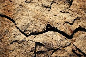 roccia ocra rustica foto