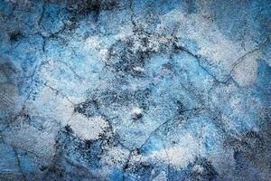 intonaco eroso blu foto