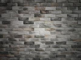 fondo della parete di struttura del cemento del mattone scuro foto