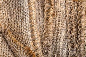 sfondo di tela di sacco marrone foto