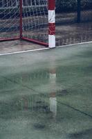 attrezzature sportive per obiettivo di calcio di strada foto