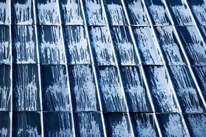 tetto in metallo rustico foto