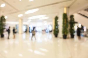 interno defocused astratto del centro commerciale per lo sfondo foto
