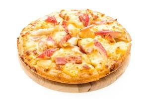 pizza hawaiana con frutti di mare foto