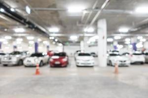 sfocatura astratta parcheggio auto foto