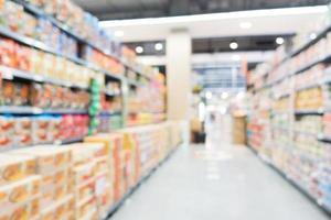 interno supermercato defocused astratto per lo sfondo foto