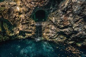 all'interno di una vecchia miniera in Svezia foto