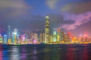 skyline della città di hong kong nel panorama della cina foto