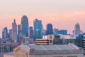 vista della skyline di kansas city nel missouri foto