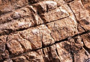vecchio muro di pietra texture foto