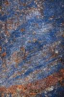 struttura della vernice blu arrugginita foto