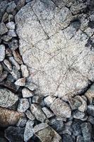 vecchie rocce grigie foto