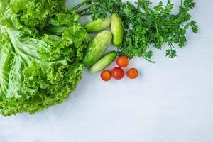 vista dall'alto di verdure foto