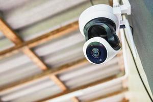 primo piano della telecamera di sicurezza foto