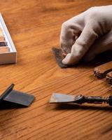 restauro pavimenti in legno foto
