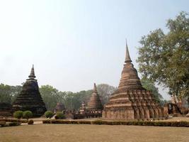 mueang kao, thailandia, 2021 - rovine di sukhothai foto