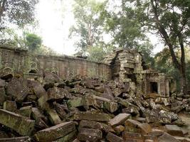 siem reap, cambogia, 2021 - rovine di angkor thom foto