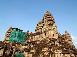siem reap, cambogia, 2021 - riparazione di angkor wat, angkor thom, siem reap, cambogia foto
