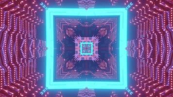 illustrazione 3d tunnel incandescente geometrico