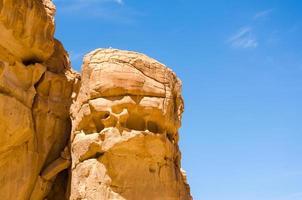 faccia nella roccia foto
