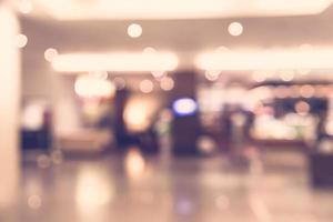 sfocatura astratta hall dell'hotel - filtro vintage foto
