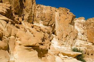 aspro canyon roccioso foto