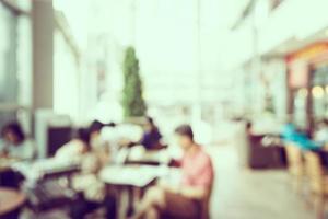 sfocatura astratta sfondo caffetteria - filtro vintage foto