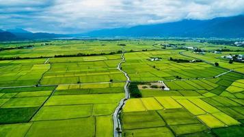 taiwan 2018- veduta aerea del campo di taitung foto