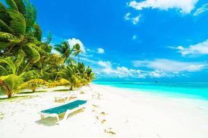 bellissima isola delle Maldive foto