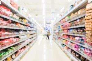 sfocatura astratta supermercato e negozio al dettaglio foto