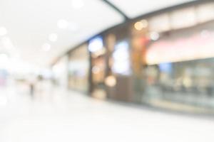 sfocatura astratta e bokeh centro commerciale e negozio al dettaglio foto