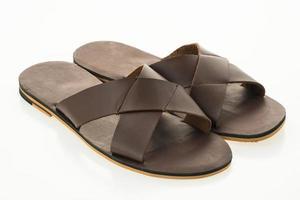 sandali da uomo in pelle e scarpe infradito foto
