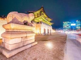 palazzo gyeongbokgung, città di seoul in corea del sud foto